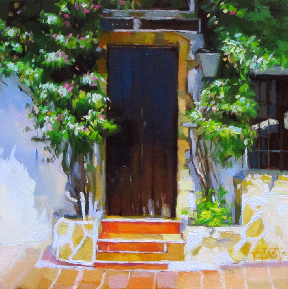 """Flowering door"" original fine art by Víctor Tristante"