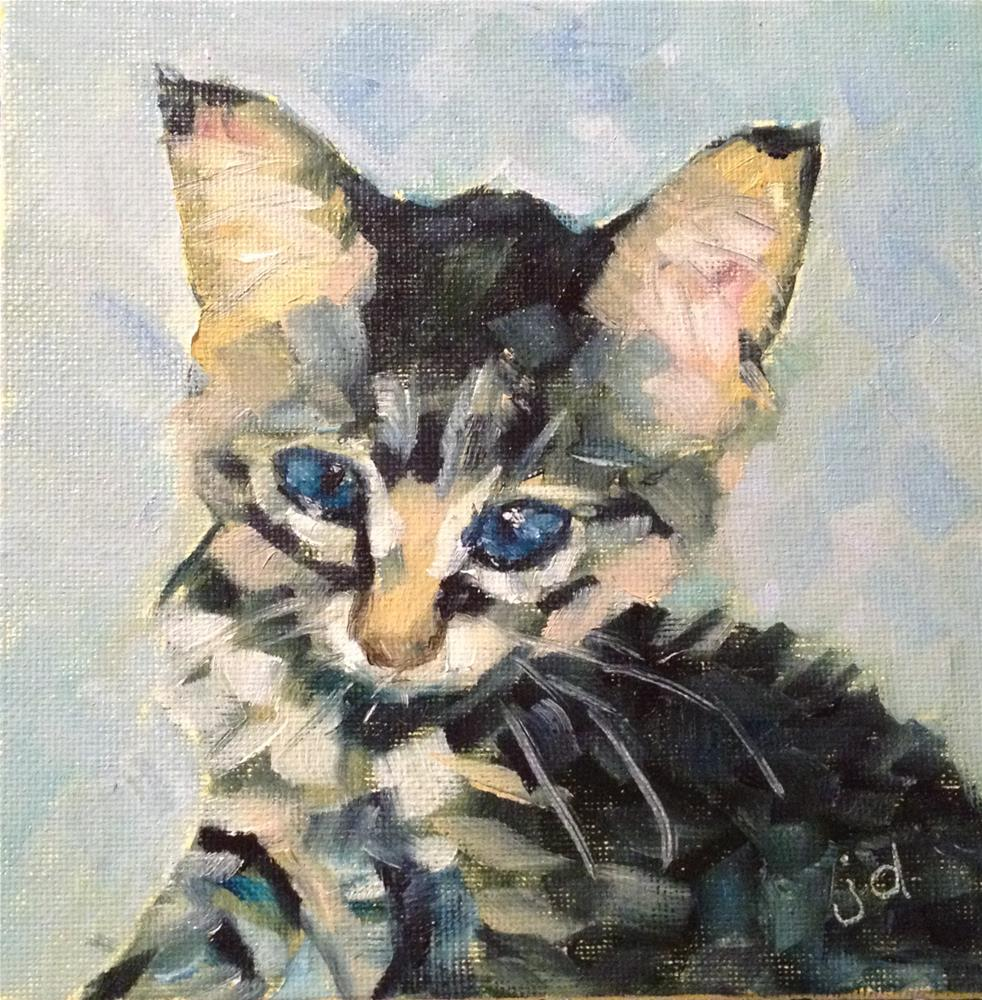 """I know, I know, I'm adorable"" original fine art by Jean Delaney"
