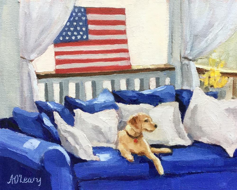 """Color Guard"" original fine art by Alice O'Leary"