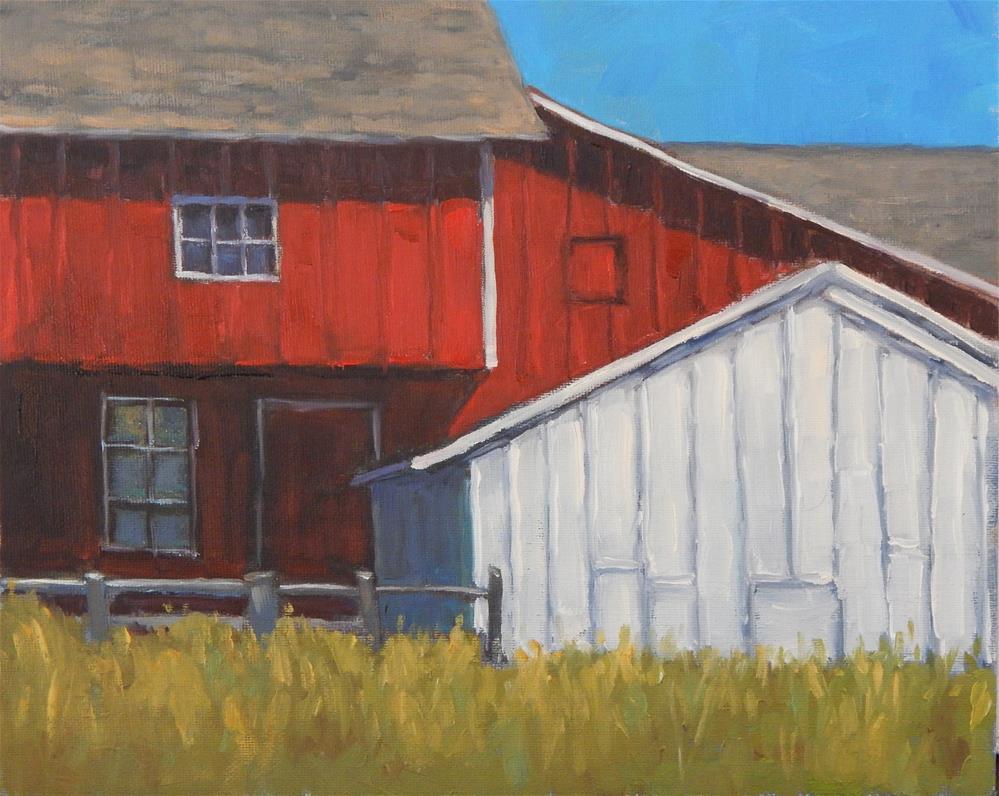 """Barn Composition"" original fine art by Lisa Kyle"