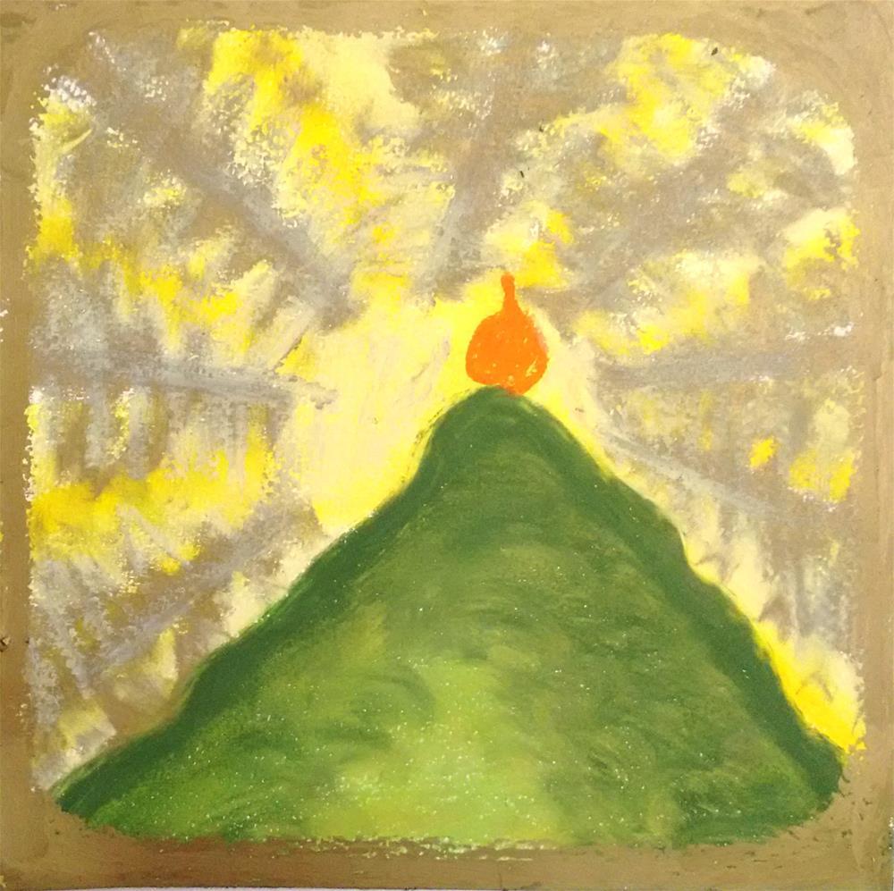 """Gracious Mountain"" original fine art by Adéla Svobodová"