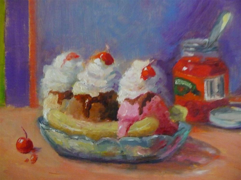 """Banana Split"" original fine art by Carol Josefiak"