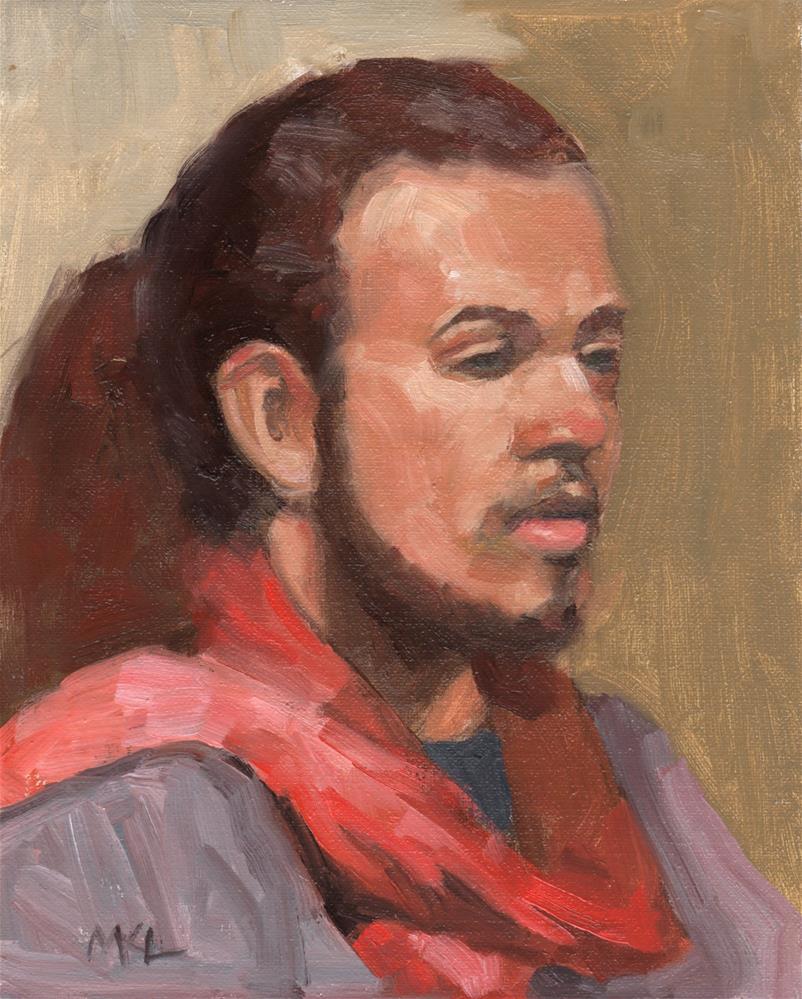 """""""Dominic"""" original fine art by Marlene Lee"""
