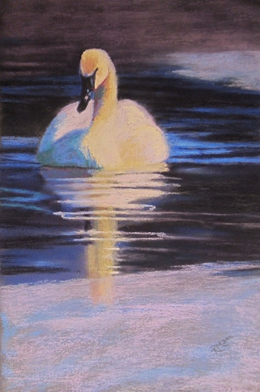 """Cold Glide 2"" original fine art by Ruth Mann"