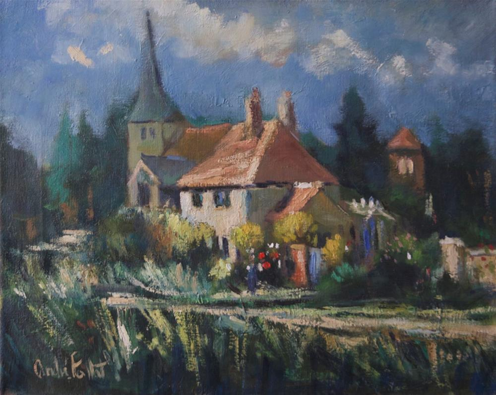"""""""Cottage at Bury"""" original fine art by Andre Pallat"""