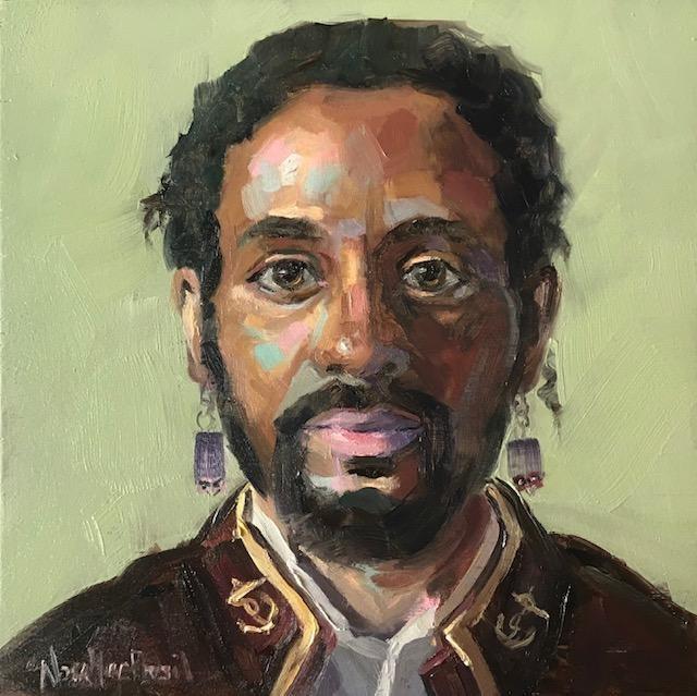 """""""Regal Portrait"""" original fine art by Nora MacPhail"""