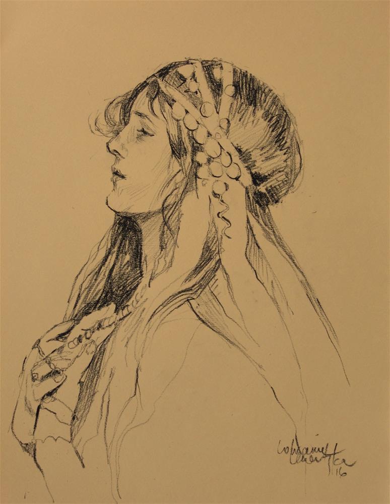"""""""Gypsy"""" original fine art by Lorraine Lewitzka"""