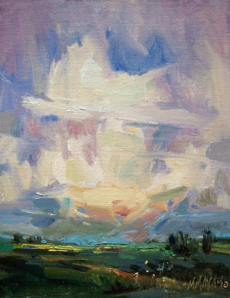 """Palouse Canola Fields- a summer landscape"" original fine art by Mary Maxam"