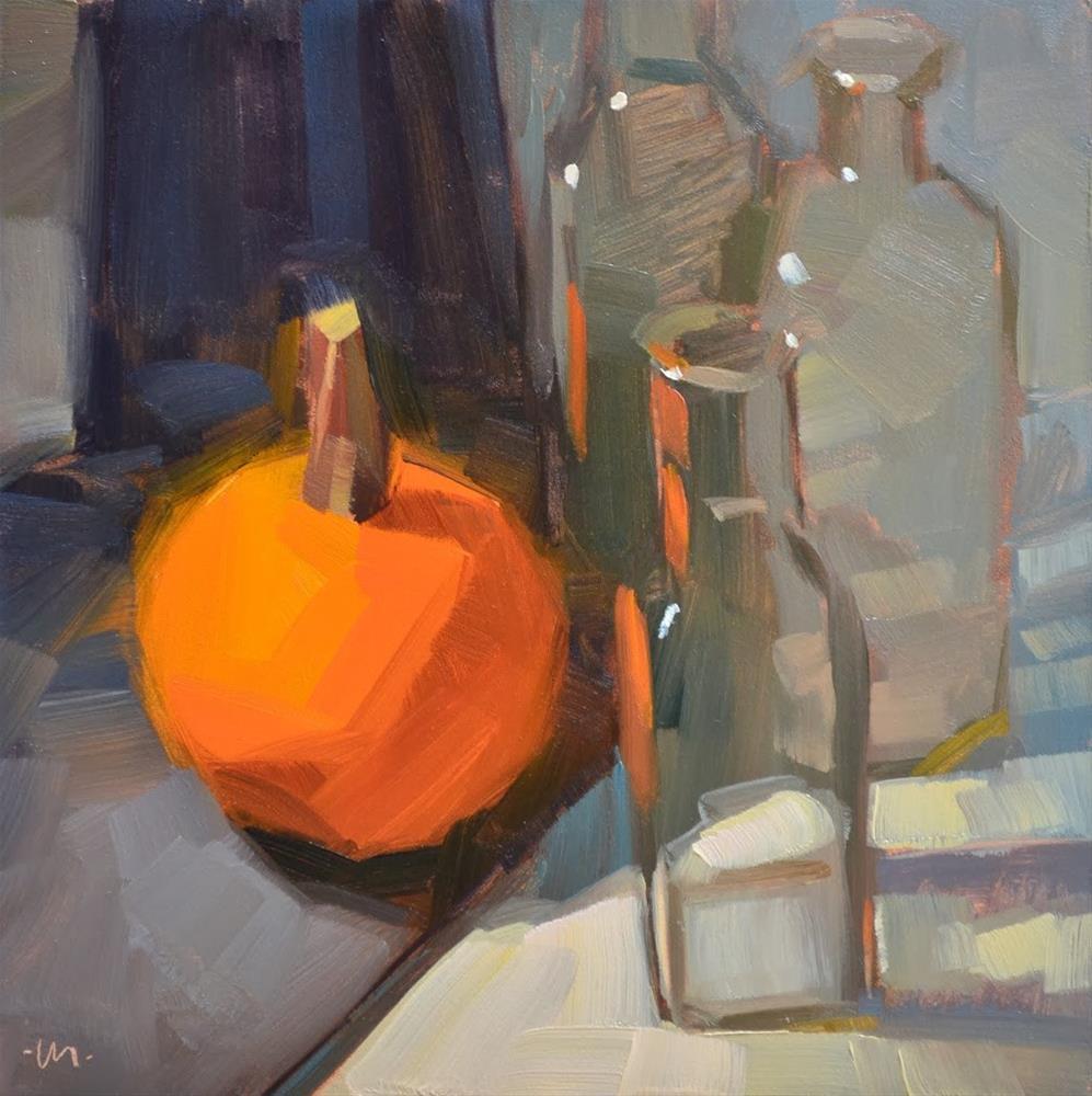 """Pumpkin Light Repeated"" original fine art by Carol Marine"