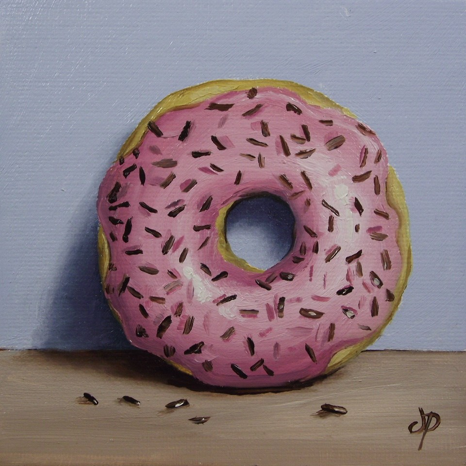 """Little Sprinkle donut"" original fine art by Jane Palmer"