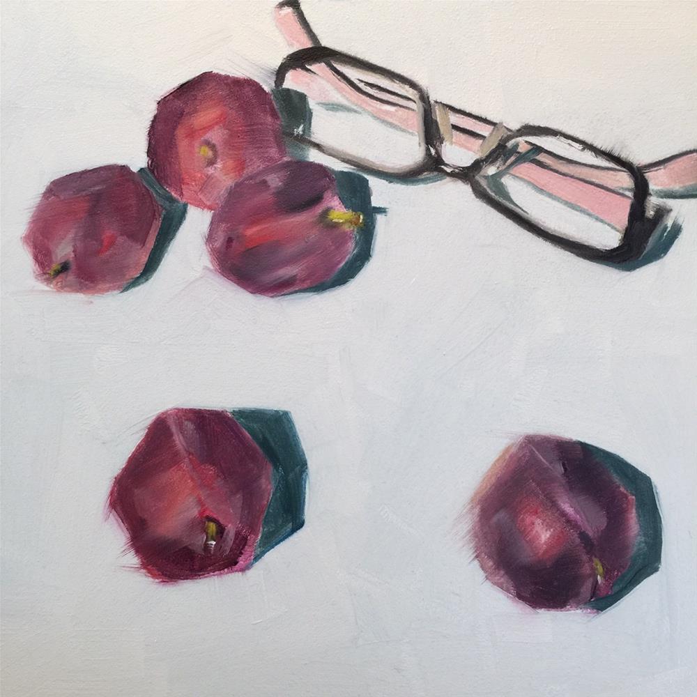 """""""265 Sweetest Plums"""" original fine art by Jenny Doh"""