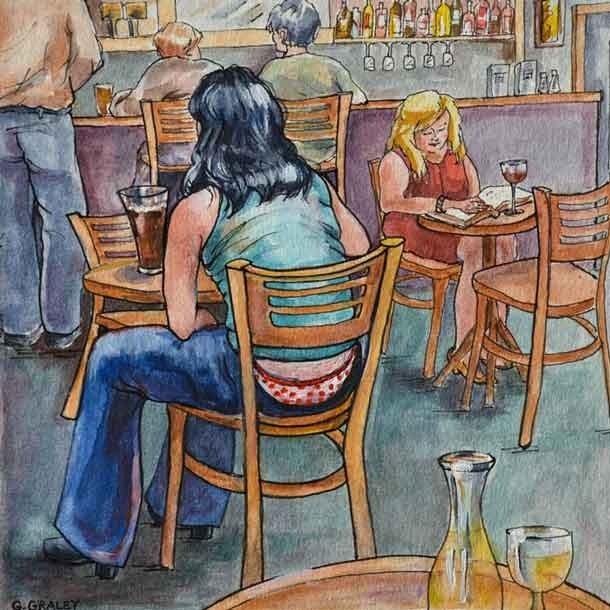 """Deborah No Longer Has A Secret"" original fine art by Geri Graley"