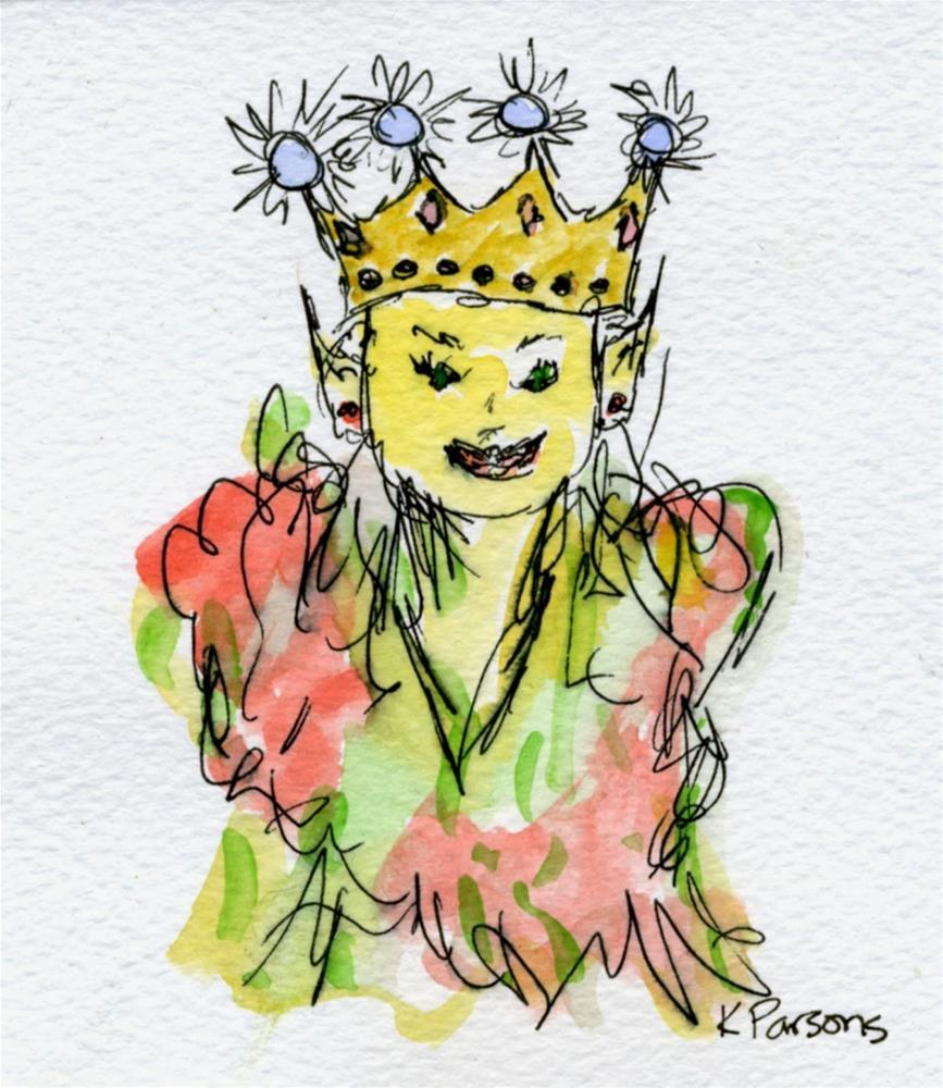 """The Elf Queen"" original fine art by Kali Parsons"