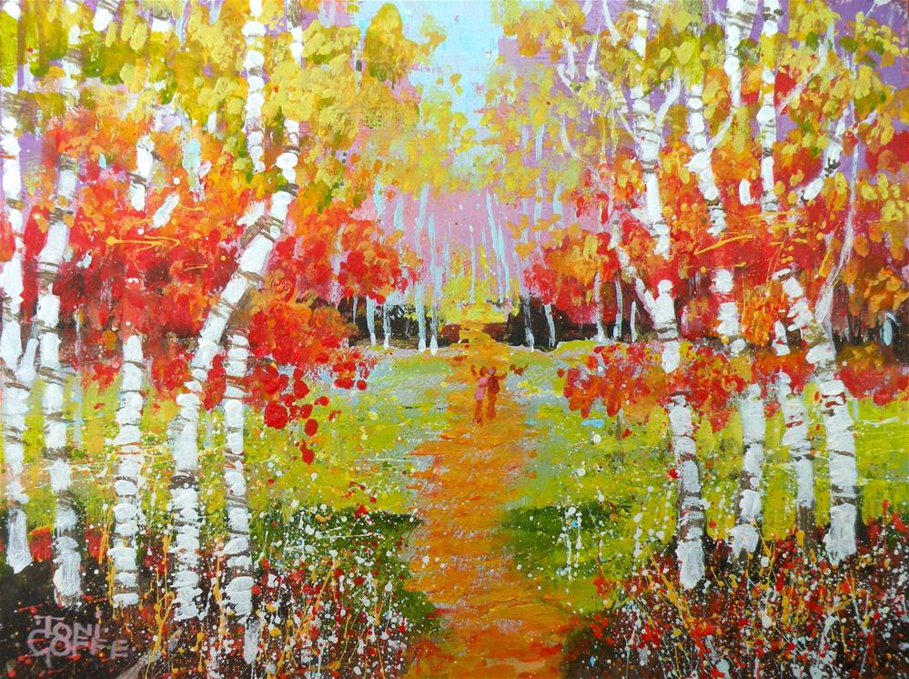 """Wood Walk"" original fine art by Toni Goffe"