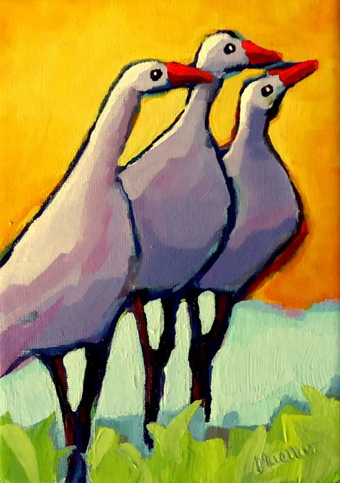 """""""Can You Believe That?"""" original fine art by Laurie Mueller"""