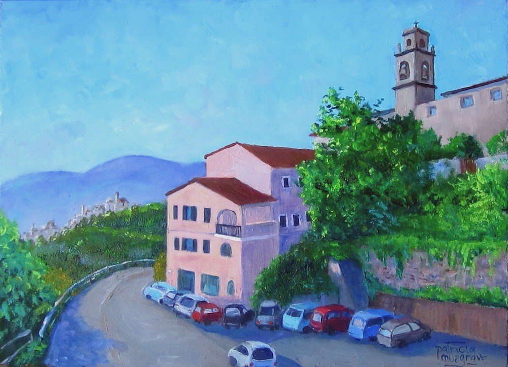"""Hilltowns of Elba"" original fine art by Patricia Musgrave"