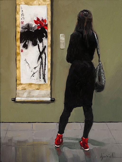 """Qi"" original fine art by Karin Jurick"