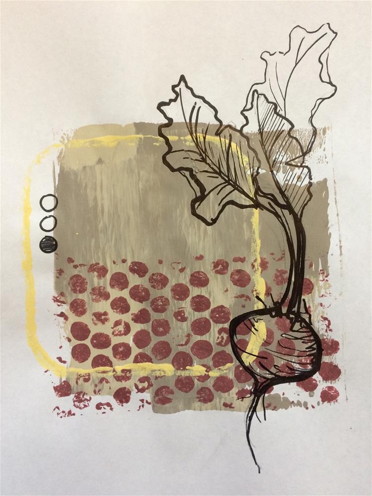 """Beet Print"" original fine art by Teddi Parker"