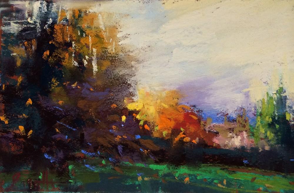 """""""Around the Corner"""" original fine art by Marla Baggetta"""