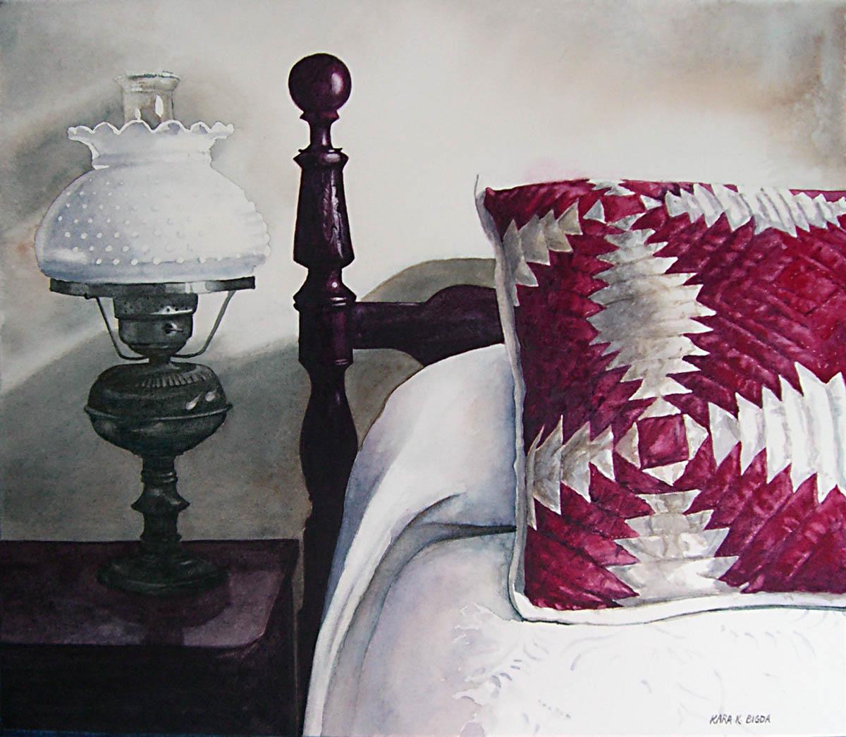 """Grandmother's Pillow"" original fine art by Kara K. Bigda"