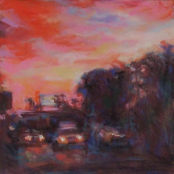 """PINK TRAVELS - 9 x 9 pastel by Susan Roden"" original fine art by Susan Roden"
