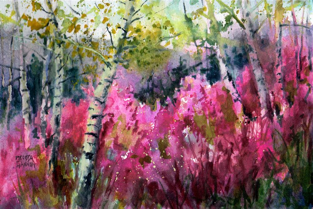"""Summer Fireweed"" original fine art by Melissa Gannon"