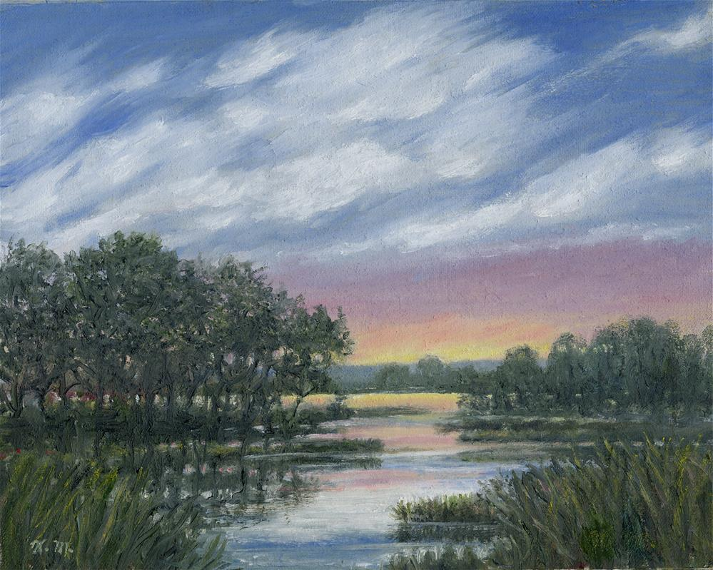 """Marsh Sketch # 4 (C) 2016 by K. McDermott"" original fine art by Kathleen McDermott"