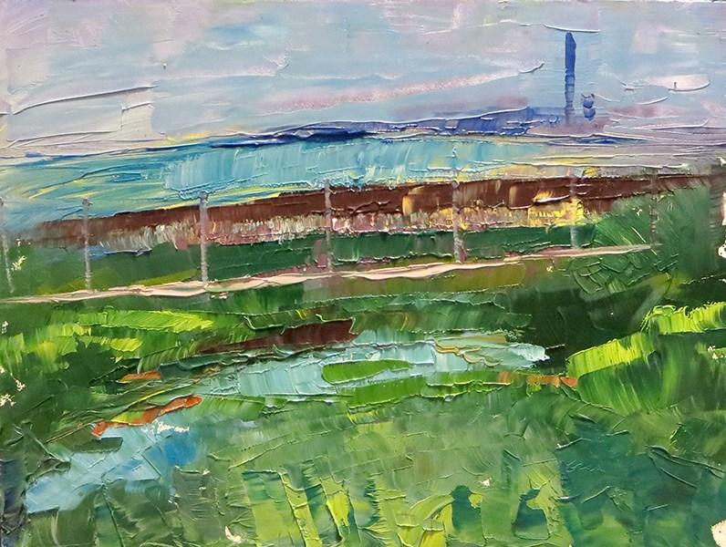 """Outside of Ptown - High Head Rd."" original fine art by Katherine Hambley"
