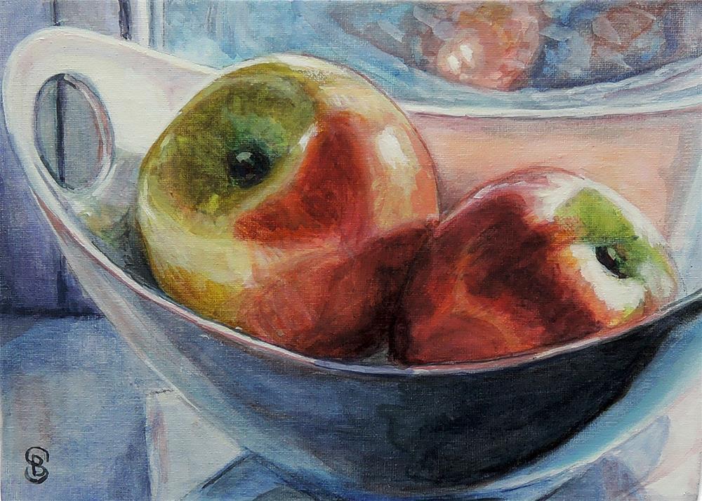 """Apples Sunning"" original fine art by Belinda Scheber"