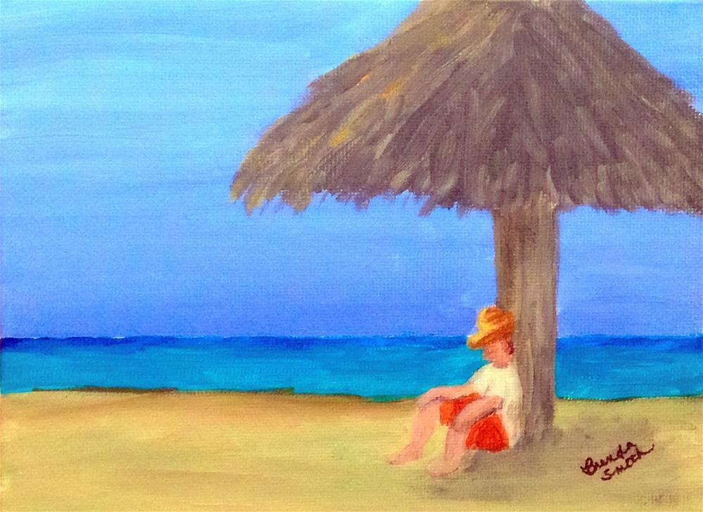 """Asleep in the Shade"" original fine art by Brenda Smith"