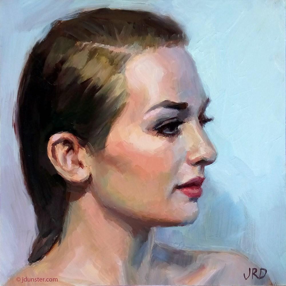 """Profile in Blue"" original fine art by J. Dunster"