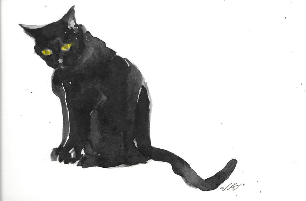 """Daily Cat 52"" original fine art by Jean Krueger"