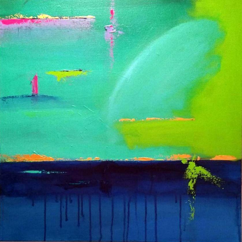 """""""Down Under"""" original fine art by Stuart Glazer"""