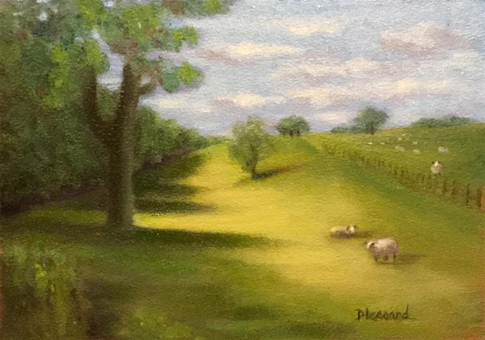 """In the Pasture #1623"" original fine art by Dee Lessard"