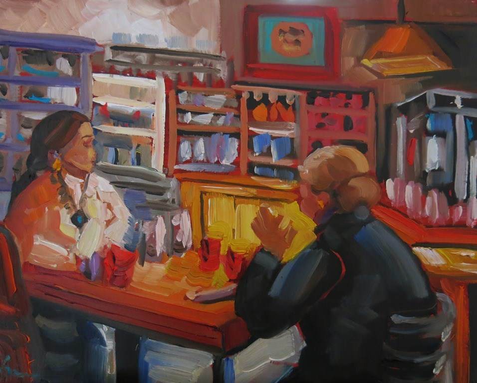 """LUNCH DATE"" original fine art by Dee Sanchez"