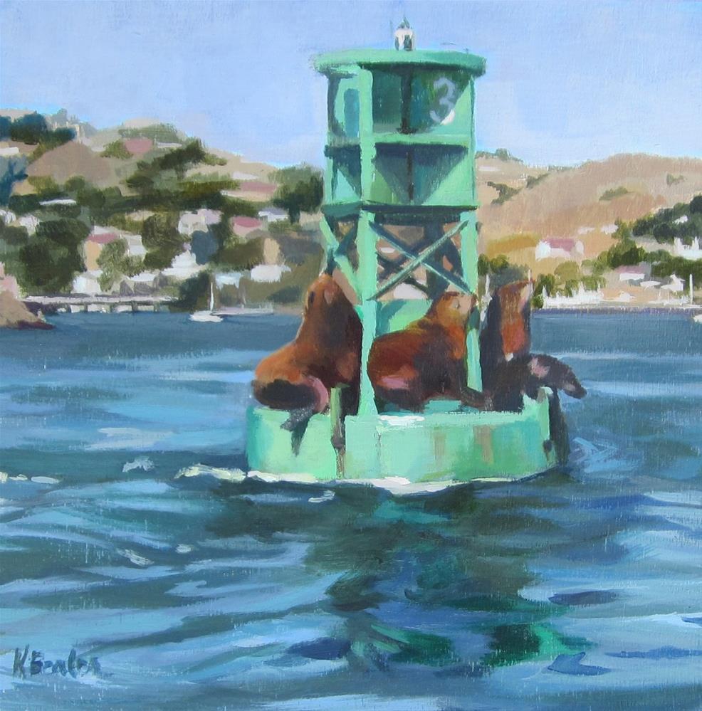 """Seal Break"" original fine art by Kaethe Bealer"
