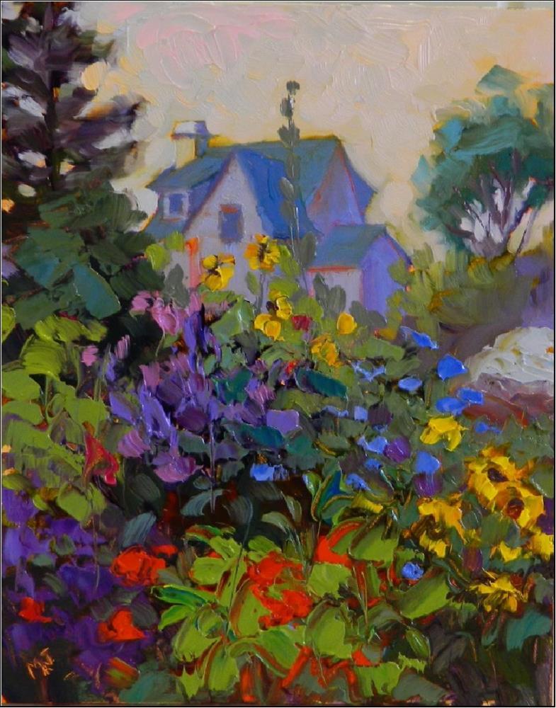 """""""Summer Garden, Monhegan Island"""" original fine art by Maryanne Jacobsen"""