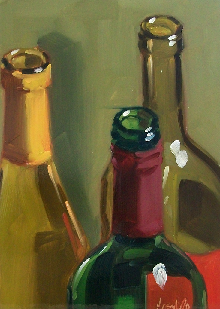 """wino21"" original fine art by Brandi Bowman"