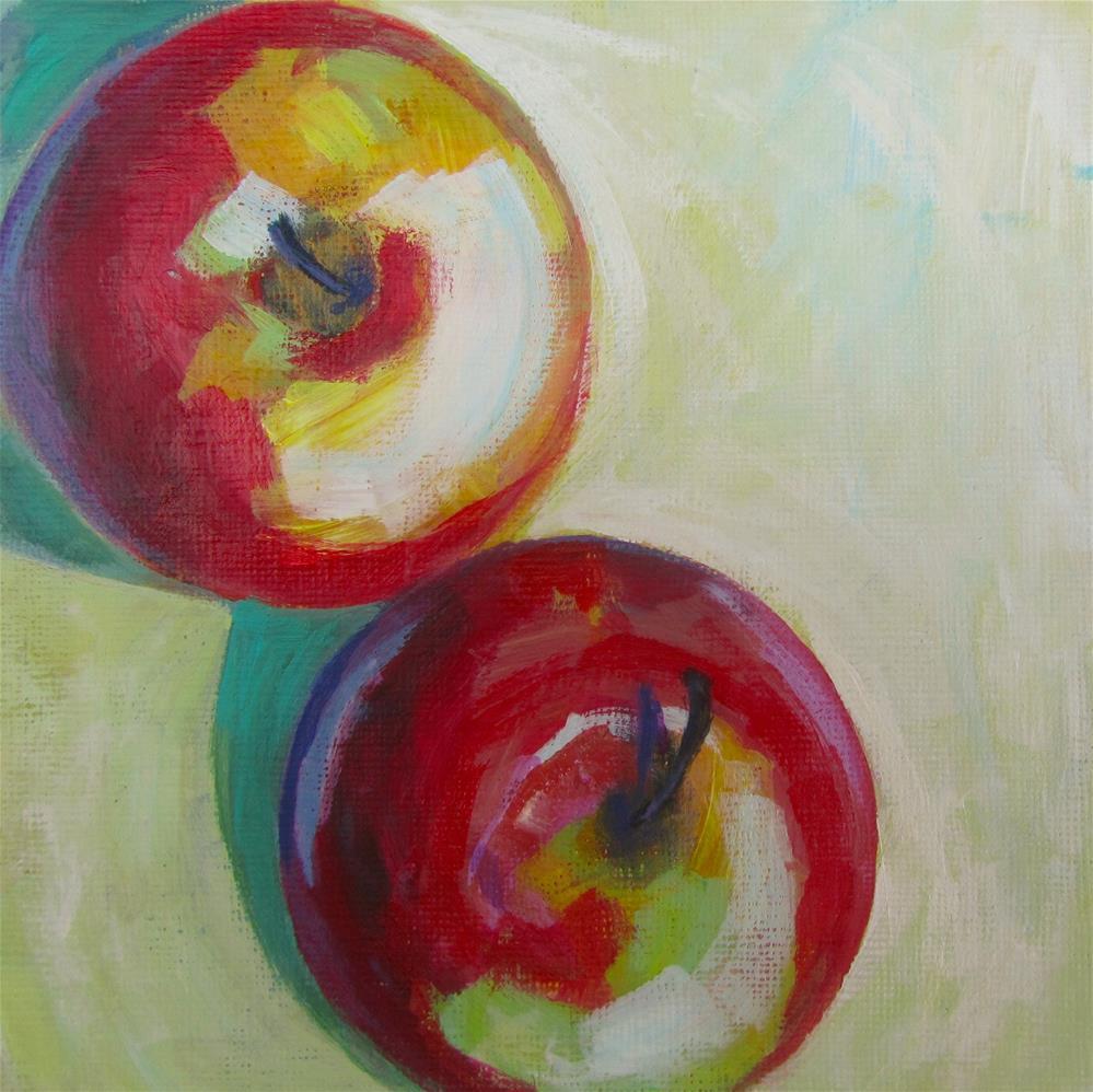 """Apple a Day #4"" original fine art by Patricia MacDonald"