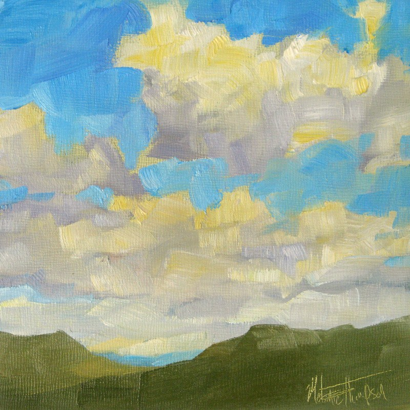 """""""Clouds Over the Blues"""" original fine art by Melanie Thompson"""