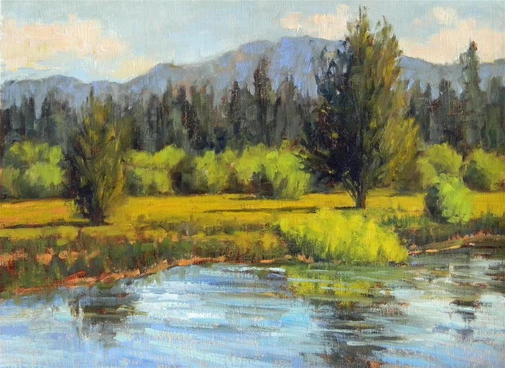 """Taylor Creek"" original fine art by Barbie Smith"