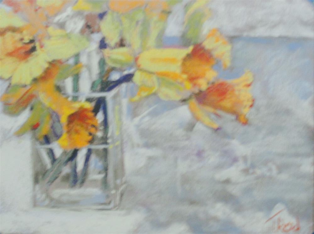 """Daffodils "" original fine art by Toby Reid"