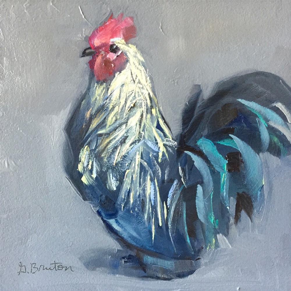 """Rooster Portrait"" original fine art by Gary Bruton"