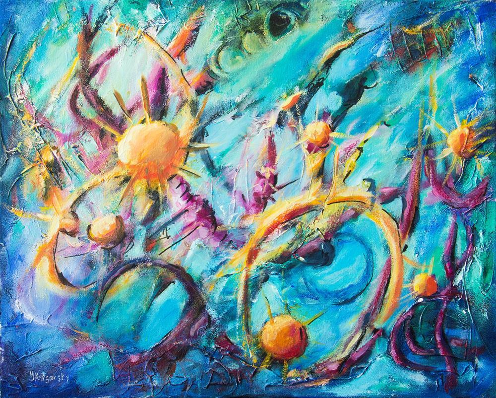"""Beyond DNA. Biomorphic Life forms."" original fine art by Yulia Kazansky"