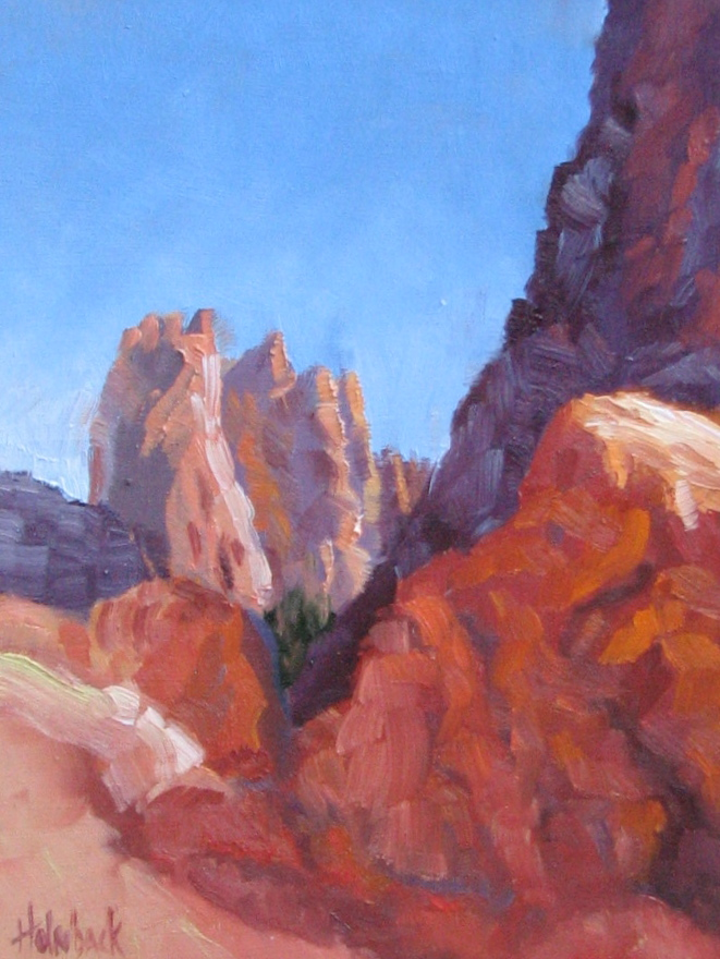 """Morning At the Garden of the Gods -- 100 Garden & Floral Oil Paintings 96/100"" original fine art by Pam Holnback"
