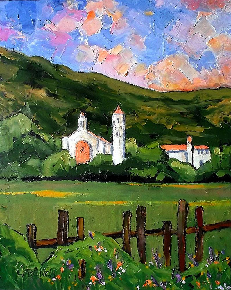 """California Carmelite Monastery"" original fine art by lynne french"