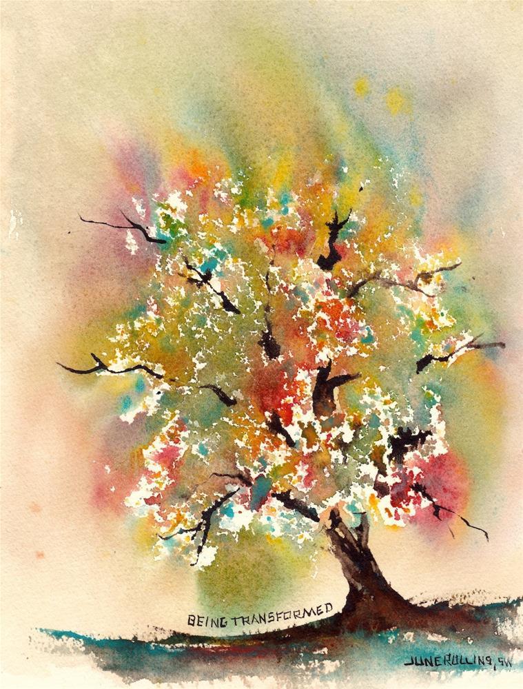 """Being Transformed"" original fine art by June Rollins"