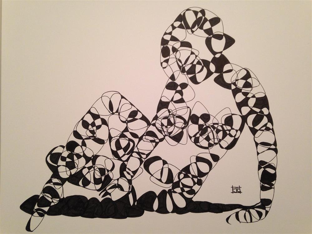 """""""Guitar pick figure"""" original fine art by Arron McGuire"""