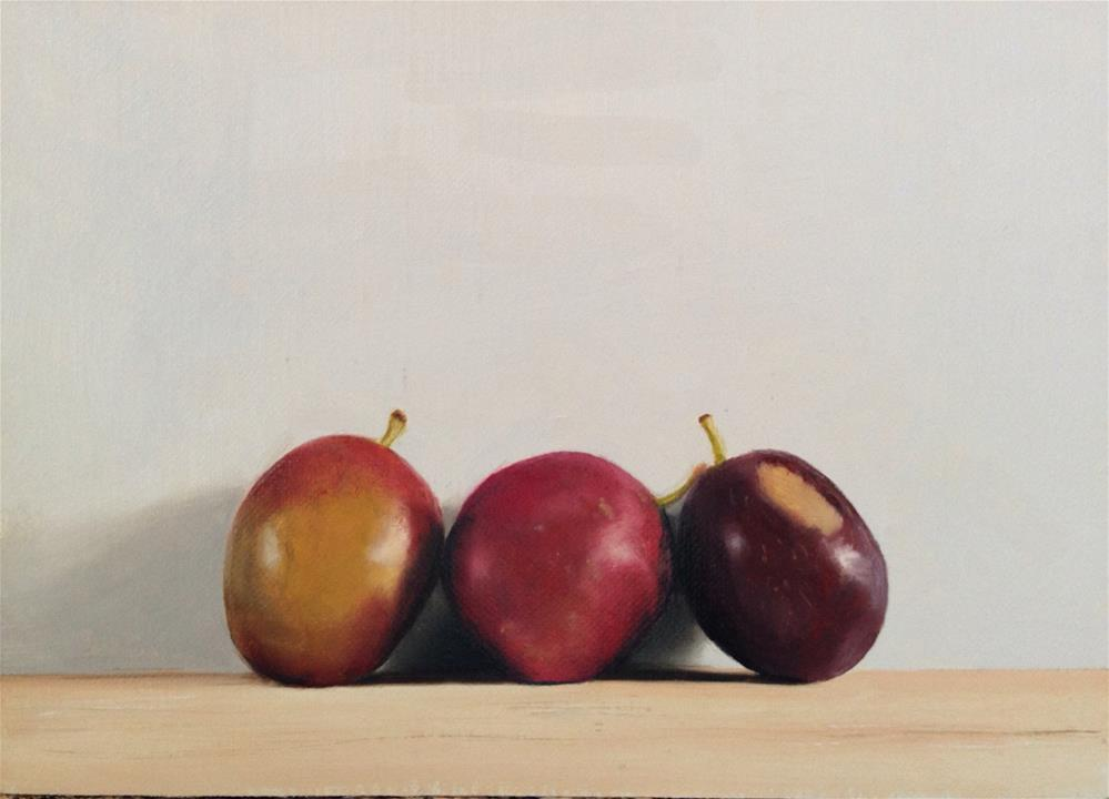"""Just Plum Perfect"" original fine art by James Coates"