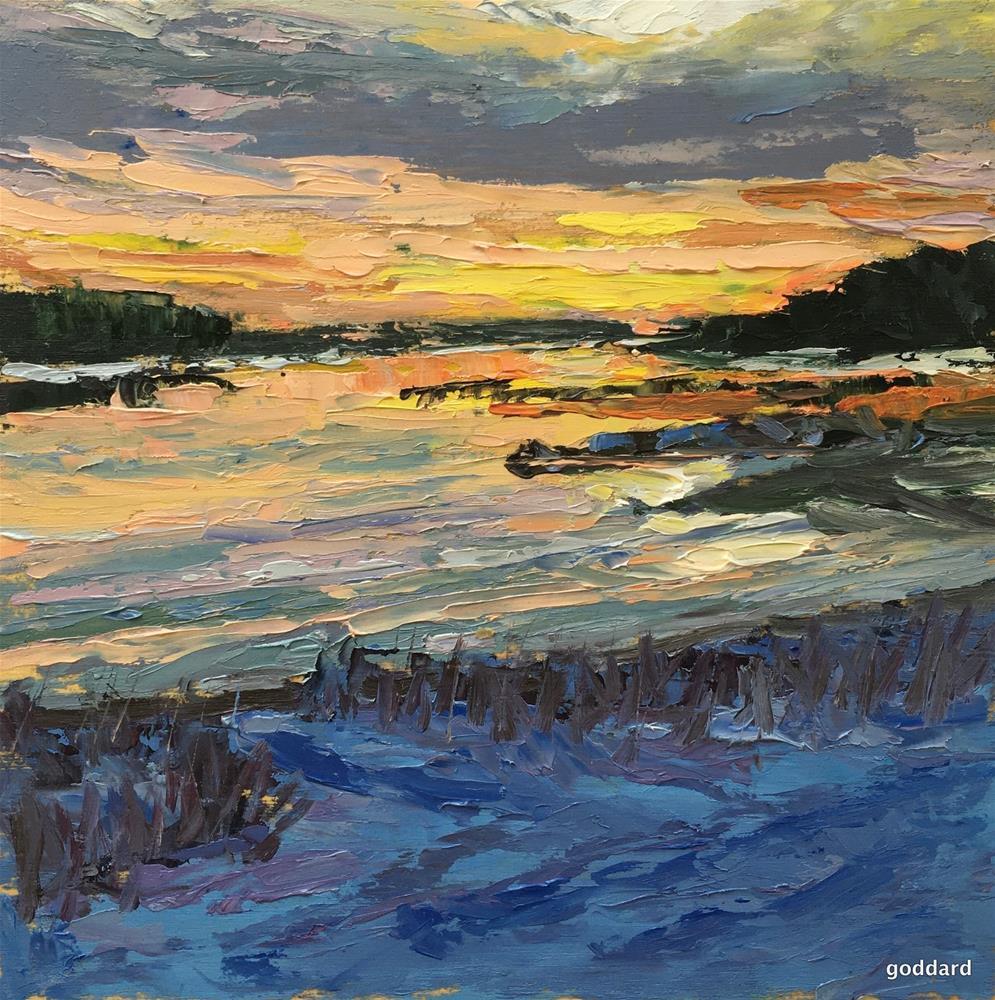 """Sunset In-between Seasons"" original fine art by Shari Goddard Shambaugh"